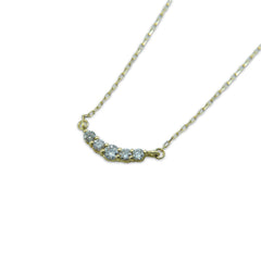 Diamond smile 18K Gold short necklace