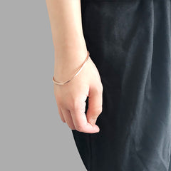 Loose Triangle Rose Gold Bangle