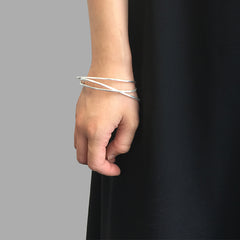 Loose Triangle Sliver Bangle