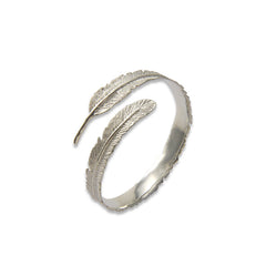 Long leaf Pattern Sterling Sliver Bangle