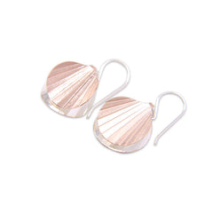 Duo Mini Orbicular Silver and Rose Gold Sterling Silver Earrings