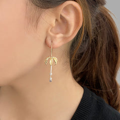 Eagle's Claw Gold and Silver Sterling Silver Pull-Thru Earrings
