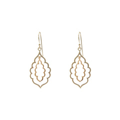 Duo Cloud Rose Gold & Sliver Sterling Sliver Earrings