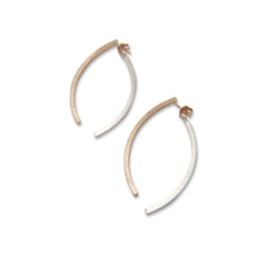 Fish Tail Rose Gold & Sliver Sterling Sliver Studs