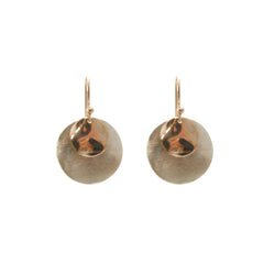 Matt Sliver Circle & Mirror Rose Gold Circle Sterling Sliver Earrings