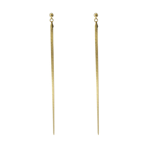 Long Tassel Gold Sterling Sliver Earrings