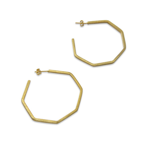 Pentagon ring Gold Sterling Sliver Earrings