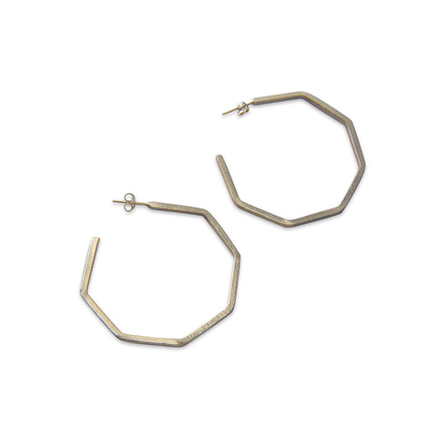 Pentagon ring Sterling Sliver Earrings