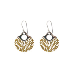 Circle sharpe leaves Gold & Silver Sterling Silver Earrings
