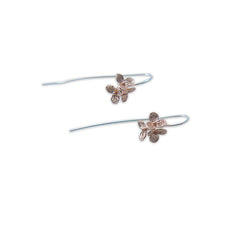 Flower Rose Gold Sterling Silver Earrings