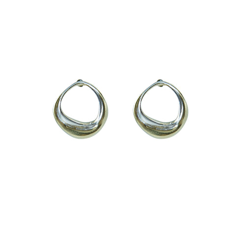 Ring Gold Sterling Silver Earrings