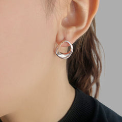 Ring Rose Gold Sterling Silver Earrings