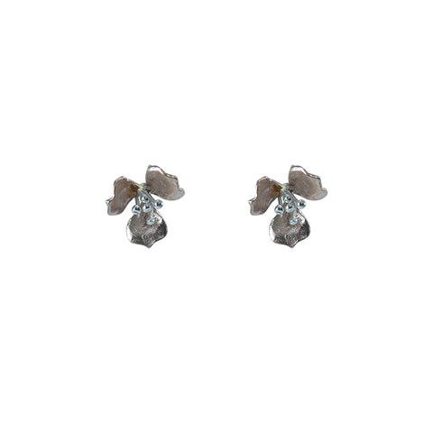 Fan shape Rose Gold Sterling Silver Earrings