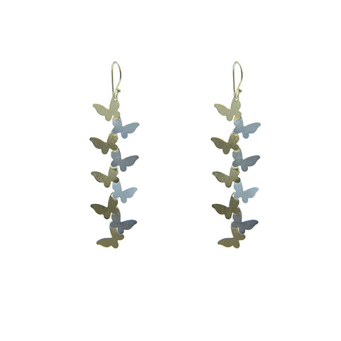 Butterfly Gold Sterling Silver Earrings