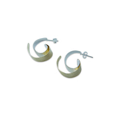Double C Gold Sterling Silver Earrings