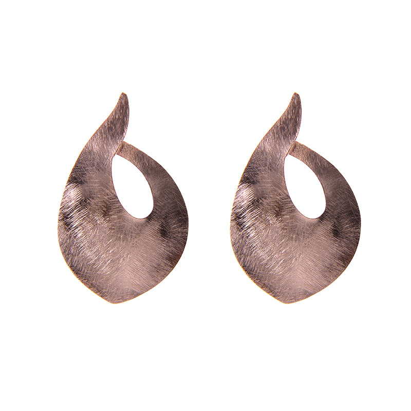 Big waterdrop shape Rose Gold Sterling Silver Earrings