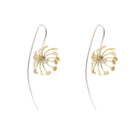 Lycoris Gold Sterling Silver Earrings
