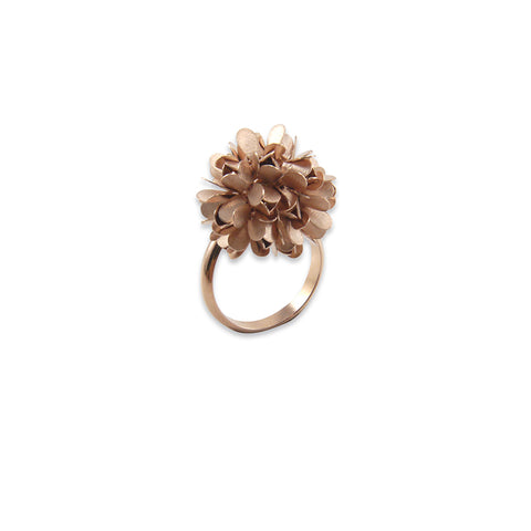 Hydrangea Rose Gold Sterling Silver Ring