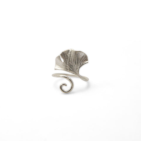 Ginkgo Leaf Sterling Sliver Ring