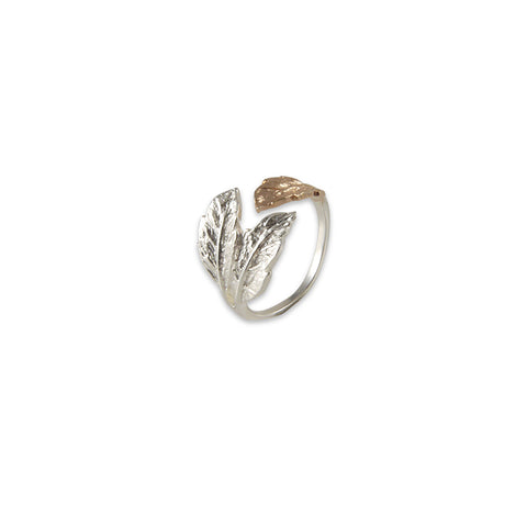 Three leaves Rose Gold Sterling Sliver Ring