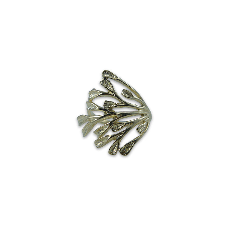 Branch of leaves Gold Sterling Sliver Ring