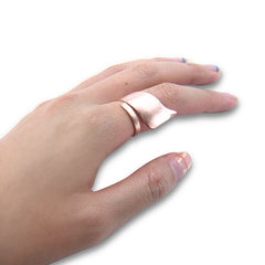 Long ribbon Rose Gold Sterling Sliver Ring