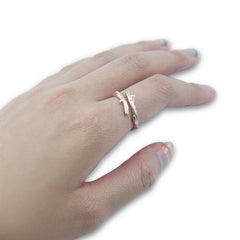 Little branch Rose Gold Sterling Sliver Ring