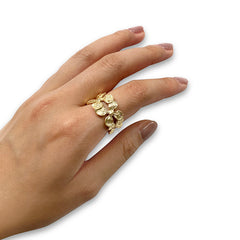 Lunaria Gold Sterling Silver Ring