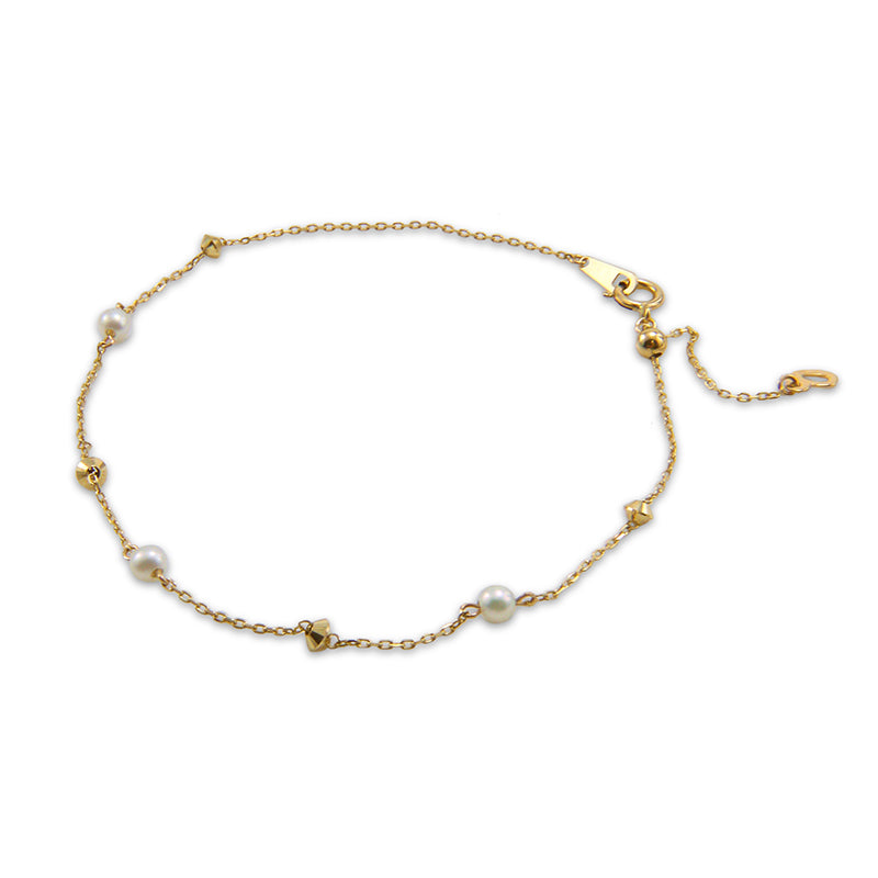 18K real gold alternative Akuya Pearl Bracelet