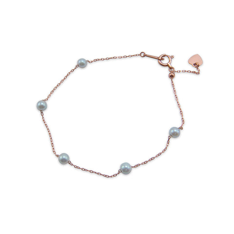 18K real rose gold alternative Akuya Pearl Bracelet