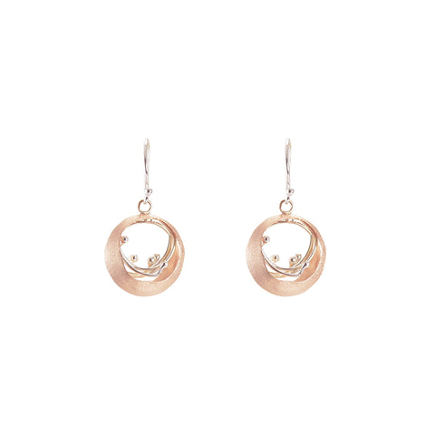 Small Ovary Rose Gold Sterling Silver Earrings