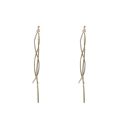 Fresh Water Tassel 10K real gold earrings