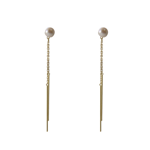18K Real Gold Akoya Pearl earrings