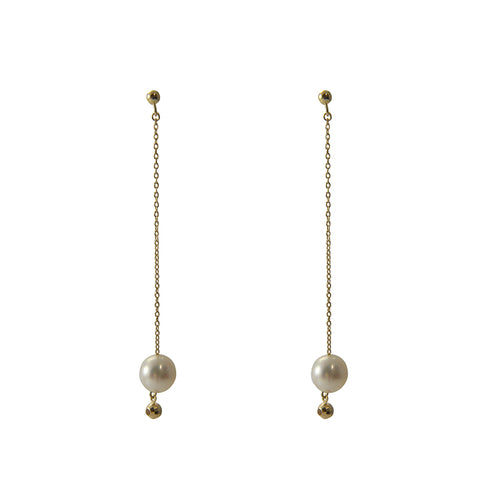 18K Gold + Akoya Peark Earrings