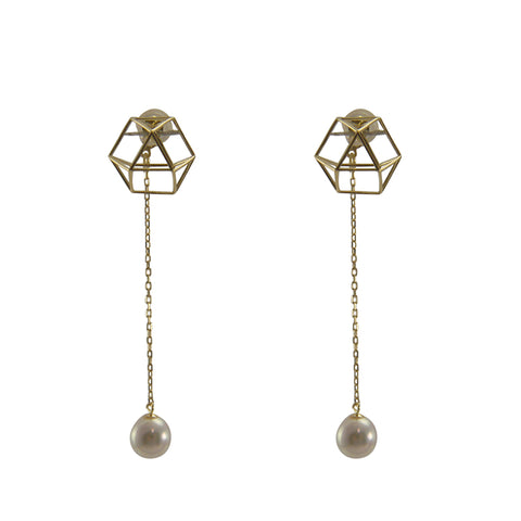 18K Gold + Akuya Peark Gold Earrings