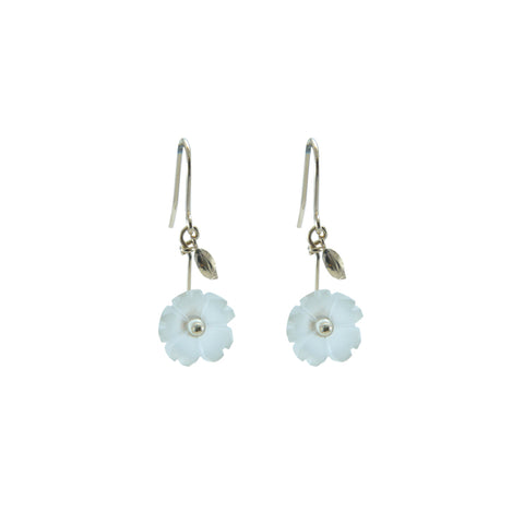 10K real Gold quartz mini flower Earrings