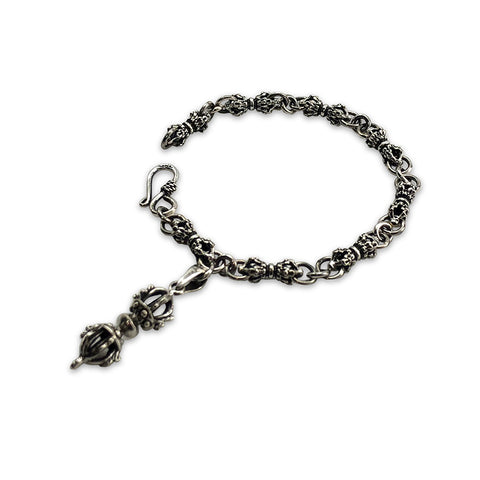 Magic Column (Small Size) with Magic Column Charm Sterling Silver Bracelet (19cm)