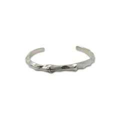 Engraved Cross Shinny Sterling Silver Bangle