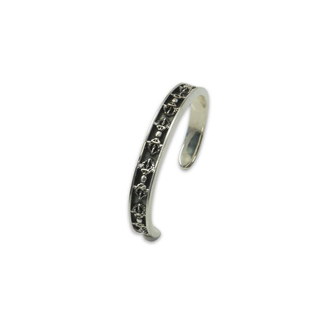 Goffic Ribbon Sterling Sliver Bangle
