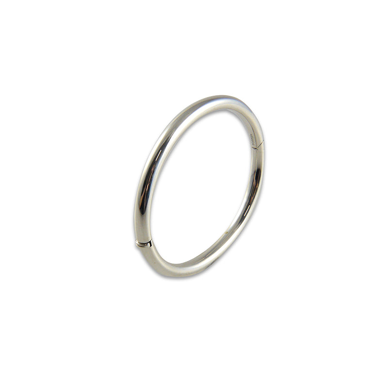 Round Sterling Silver Bangle (Thick version)