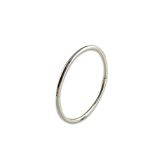 Round Sterling Silver Bangle (Thin version)