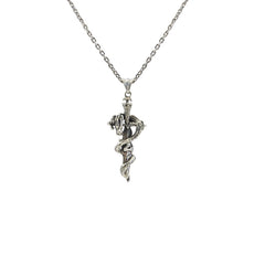 Dragon and Sward Sterling Silver Necklace