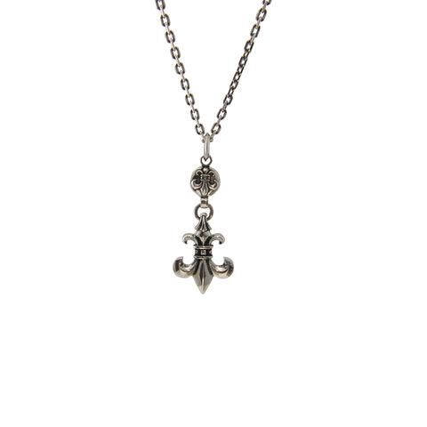Big and small Fleur-De-Lys with Sterling Silver Necklace