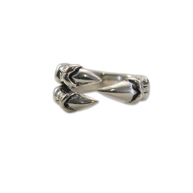 Dragon Claw Adjustable Sterling Silver Ring