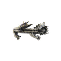 Whole Dragon Adjustable Sterling Silver Ring