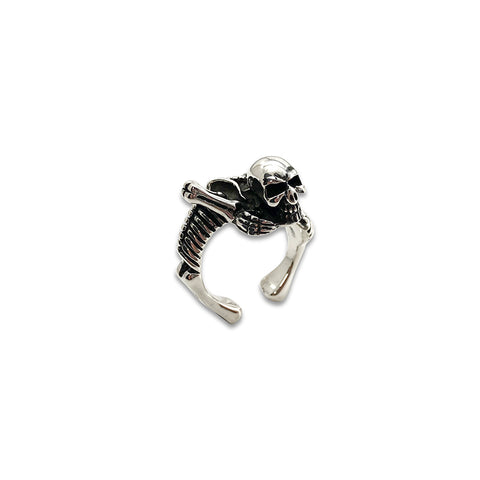 Skeleton Adjustable Sterling Silver Ring