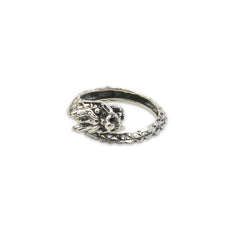 Wrap Loop Dragon Sterling Silver Ring