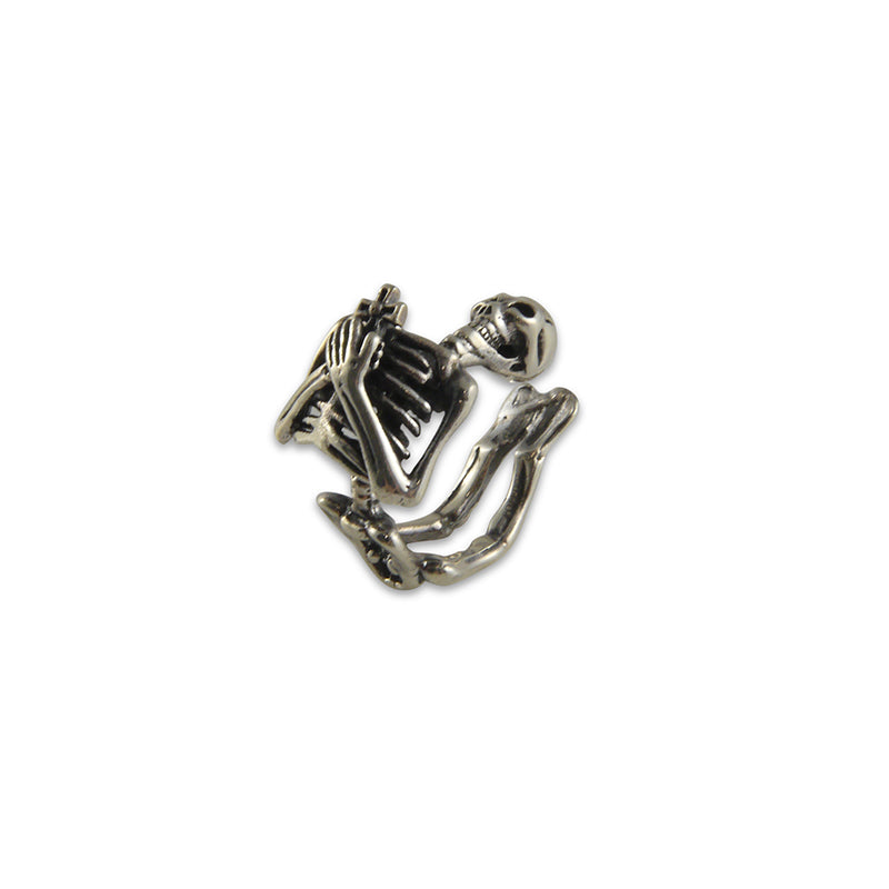 whole Skeleton Sterling Silver adjustable Ring