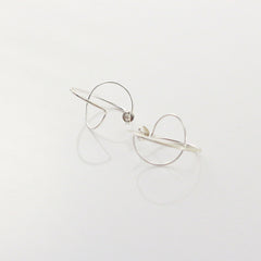 Mini Wiry Sphere Sterling Silver Studs