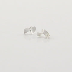 Half Twisted Drum Sterling Silver Studs